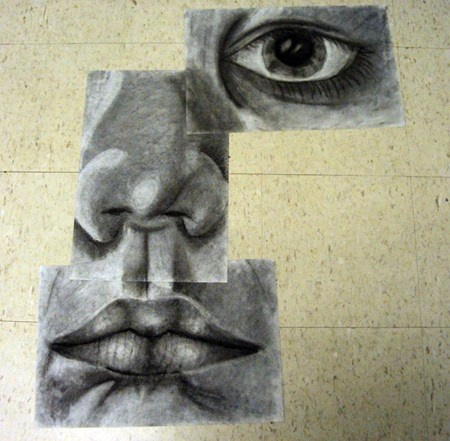 Fractured self portraits: 1 eye, nose, mouth, each on 12 x 18, in charcoal: Faces Drawings, Artworks Publishing, Art Lessons, Art Museums, Artsonia Art, Art And Design, Cool Ideas, Ugly Faces, Art Projects