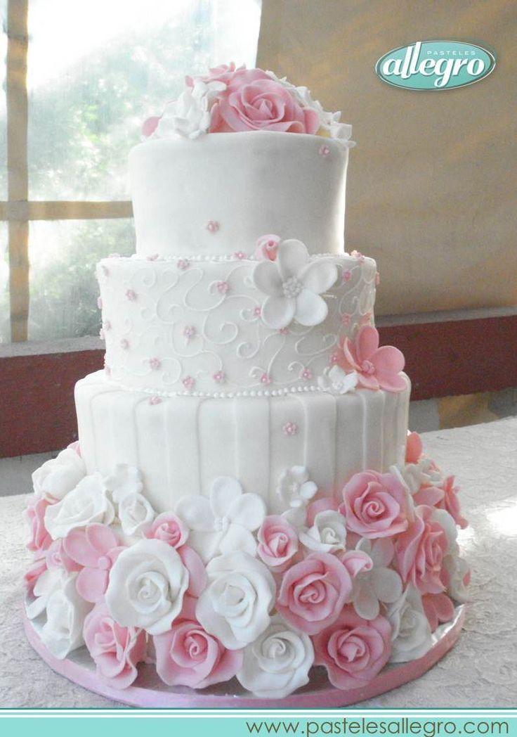 Wedding cake, floral wedding cake, wedding cake ideas, vintage cake, bridal shower cake. Pastel de boda, pastel floral, pastel vintage, ideas para bodas