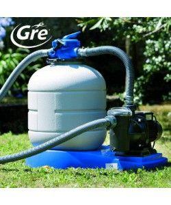Filtre à Sable avec Préfiltre GRE 3.5m3/h P: 125W - Pompe, Filtration - Piscine - LeKingStore