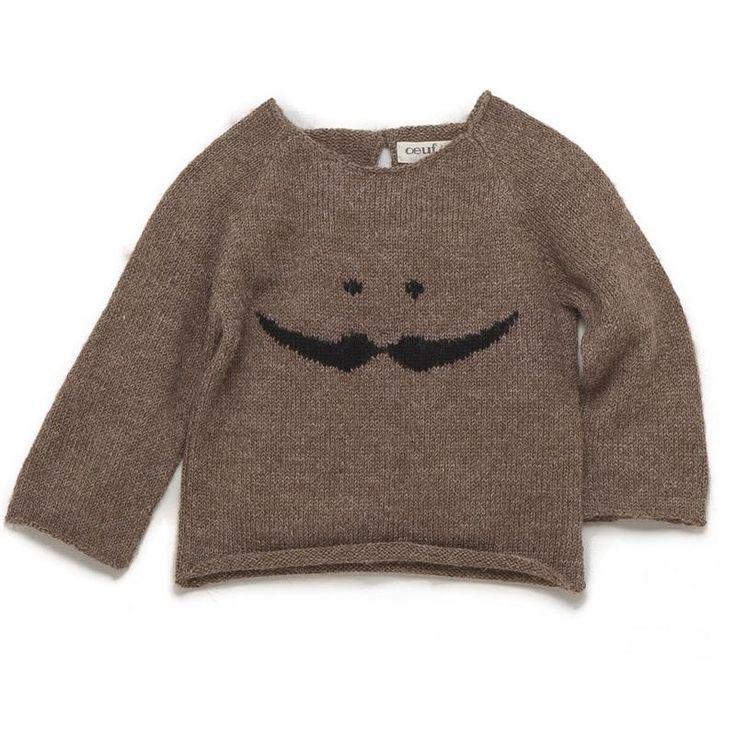 Mustache sweater in slate/light grey