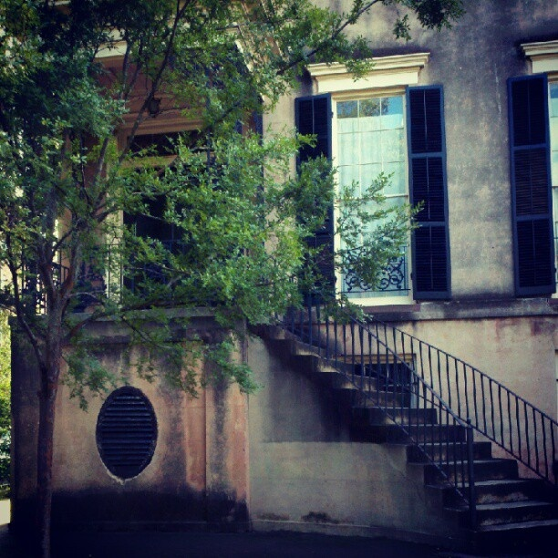 423 Abercorn St. One of the most haunted places in Savannah, Georgia. Just around the corner from our Market store! It's both beautiful & creepy @ the same time-perfect for someone like me!