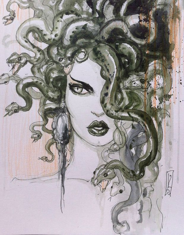 Méduse par Olivier Ledroit