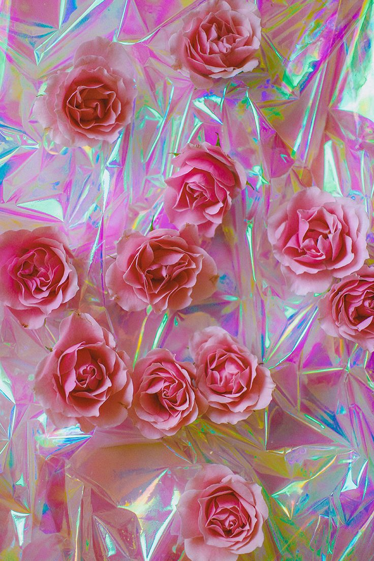 Find the best and most beautiful flower wallpapers and images! Deconstruct by Brian Vu   Holographic wallpapers, Flowers