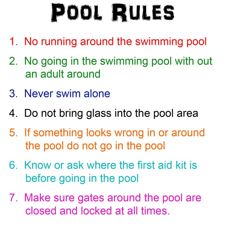 Pool Rules May Is National Water Safety Month So Here Are