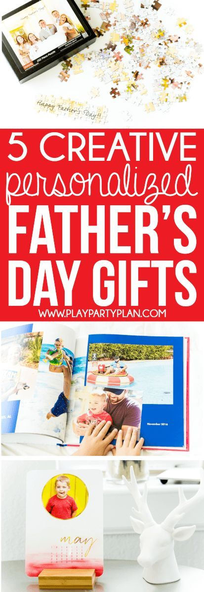 Love all of these awesome personalized Father's Day Gift ideas you can make  on Shutterfly.com! Definitely some of the cutest homemade gifts for Father's Day 2017 I've ever seen. Definitely ordering the cards and DIY puzzle for my dad!