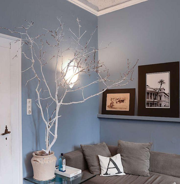 Nordische Einrichtungstipps von Alpina Feine Farben: Blau- und Grautöne, Inspirationsboard Ruhe des Nordens von Peter M. – inspirieren lassen von kreativen Wohn-Ideen für noch schöneres Wohnen.
