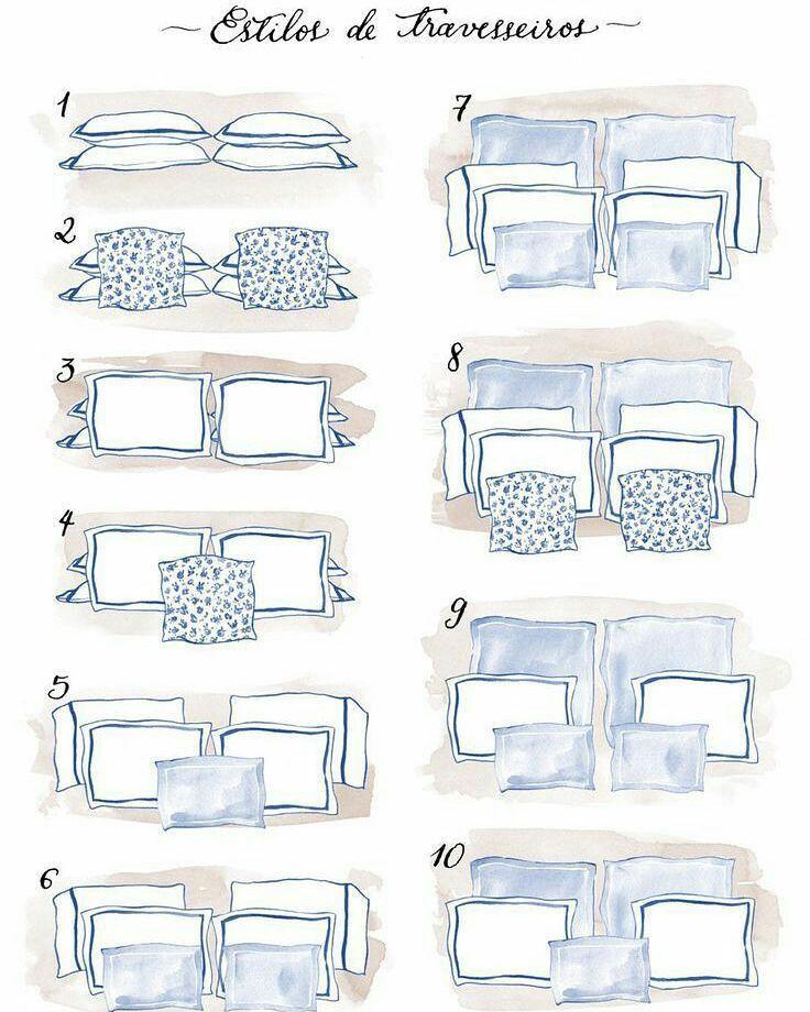 Maneiras de arrumar travesseiros na cama