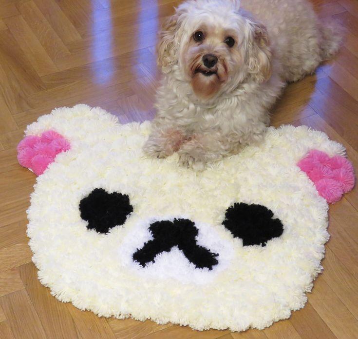 M s de 1000 ideas sobre alfombra de pom pom en pinterest - Alfombras hechas a mano con lana ...
