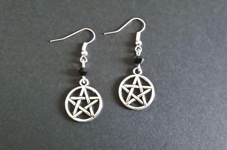 Gothic-Schmuck - Pentagramm Ohrringe - ein Designerstück von Nesherim bei DaWanda