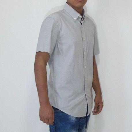 Camisa Sonoma solid oxford manga corta gris