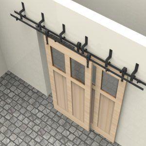 Double Barn Door Track Hardware