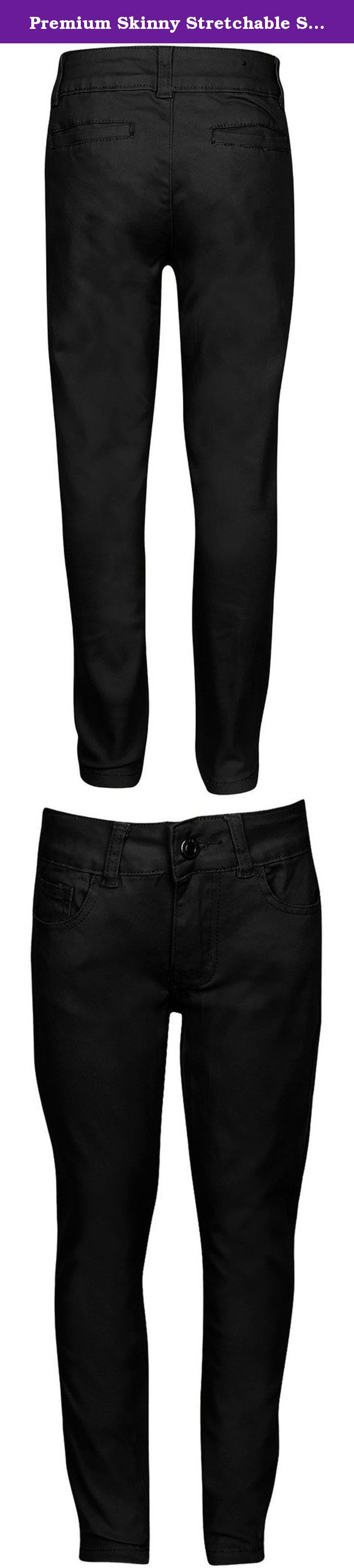 Premium Skinny Stretchable School Uniform Pants for Juniors 1 Black. Have you been finding it difficult to get a skinny pant with stretchable material that looks stylish too? Or Are you looking for a skinny pant that can be comfortably worn for long durations without causing itching, excessive sweating or irritation? Well, we bring to you a skinny pant design that you will love for its many incredible features and benefits: - Stylish skinny fit with straight leg openings - looks trendy…