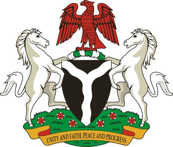 Brasão de armas da Nigéria. Coat of arms of Nigeria.