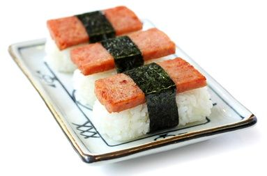 I really love spam Musubi, but I like it more when it is fully wrapped in Nori!