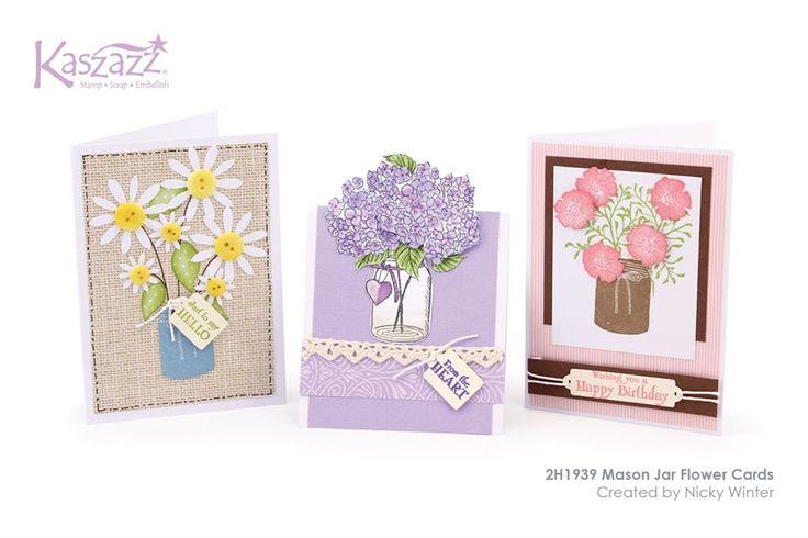 2H1939 Mason Jar Flower Cards
