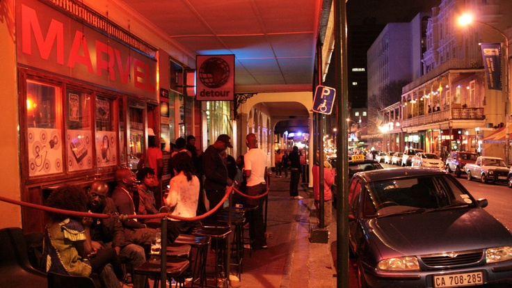 Long Street in Cape Town at night