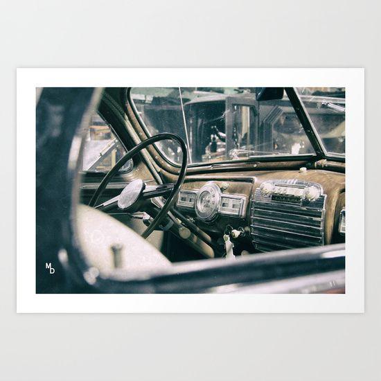 Old car Art Print by Marie Deschene - $15.00
