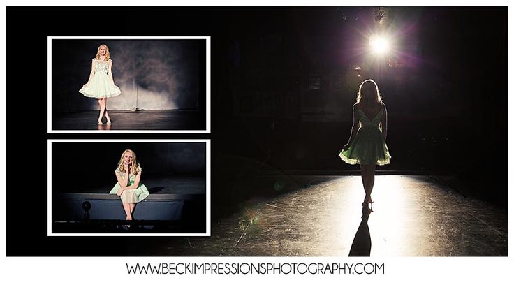 Middle Tennessee Senior Pictures, Theater Stage Spotlight | www.BeckImpressionsPhotography.com