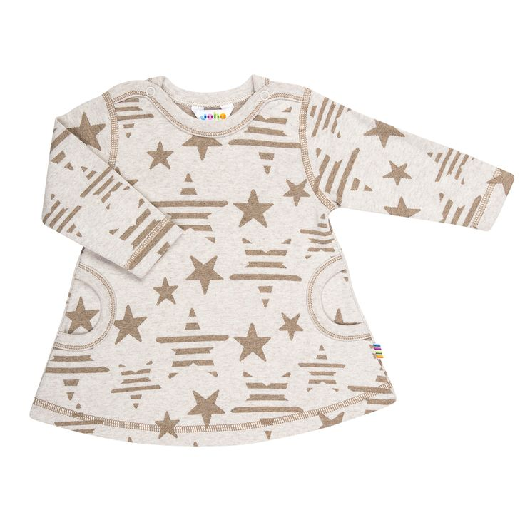 Joha Certified EU Ecolabel, 100% cotton.  Thick cotton dress, with stripy star print, with pockets and press studs on both shoulders.  Made in Europe.$39.95 http://www.danskkids.com.au/collections/spring-summer-2015/products/joha-stripy-star-dress