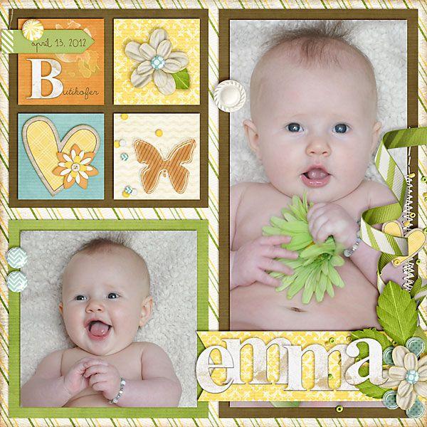 Emma - 2 Photo Baby Layout