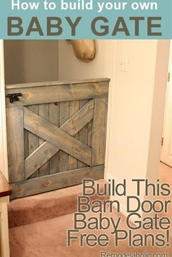 :) DIY Barn Door Baby Gate (Plans and photos!) I need these when we build a house!
