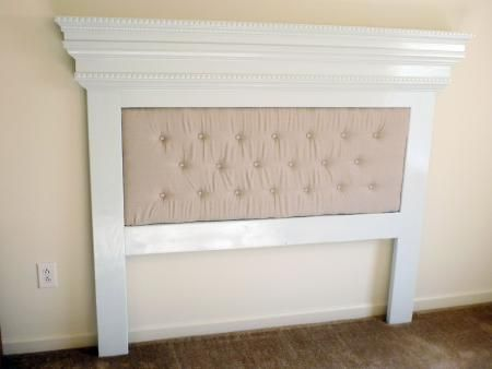 Do It Yourself Headboards | Our Mantel Moulding Headboard with a Unique Twist | Do It Yourself ...