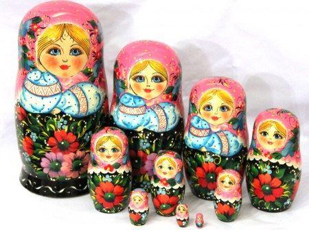 Nesting doll 10 pcsEaster Spring DollRussian
