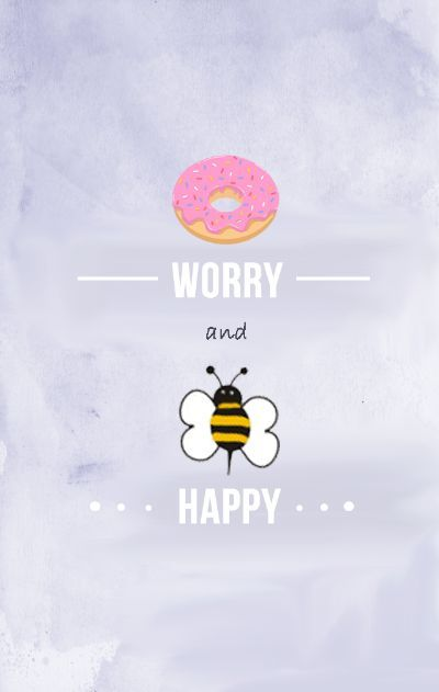 Life is full of ups and downs but you just need to take a breath. Donut Worry, Bee Happy — Prints by Pellegrino