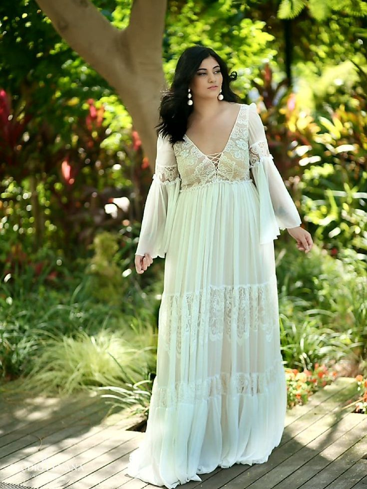 Vintage Wedding Gown For Curvy Brides Long Chiffon Sleeves And Layered Ski Plus Size Wedding Dresses With Sleeves Plus Wedding Dresses Plus Size Wedding Gowns