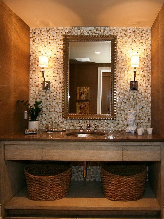 Small bathroom designs gorgeous bathrooms pinterest powder backdrops and vanities for Small designer bathroom ideas