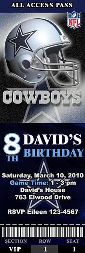 dallas cowboys ticket invitations | Design#1 Design#2 Design#3