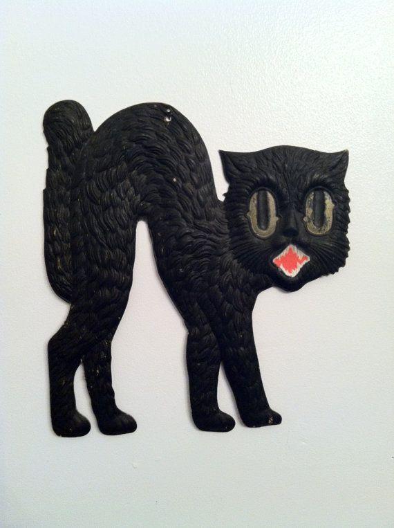 28 best Halloween images on Pinterest Halloween labels, Halloween - halloween decorations black cat