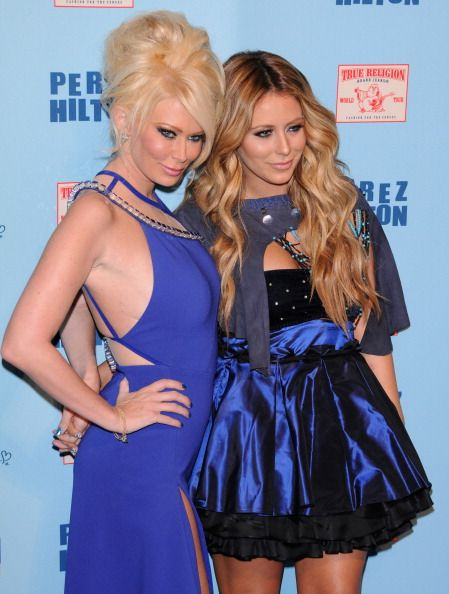 Jenna Jameson and Aubrey O'day attend Perez Hilton's Blue Ball Birthday Celebration on March 26 2011 in Hollywood California