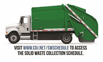 Did you know that you can access your waste collection schedule online?  Among the top calls to 630-CITY are requests for the dates of recycle, bulk, garbage and yard waste collection. You can easily look up this information using our online tool at www.coj.net/swschedule.