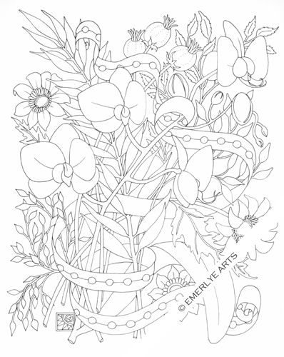 orchid an adult coloring page from cynthia emerlyes newest collection
