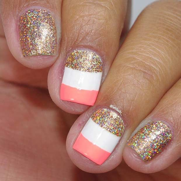 35 Bright Summer Nail Designs - Best 25+ Nail Designs For Summer Ideas On Pinterest Summer Nails