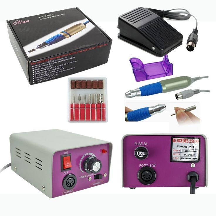 PRO Electric Nail FILE DRILL Acrylic Manicure Sand Machine Kit TOP ...
