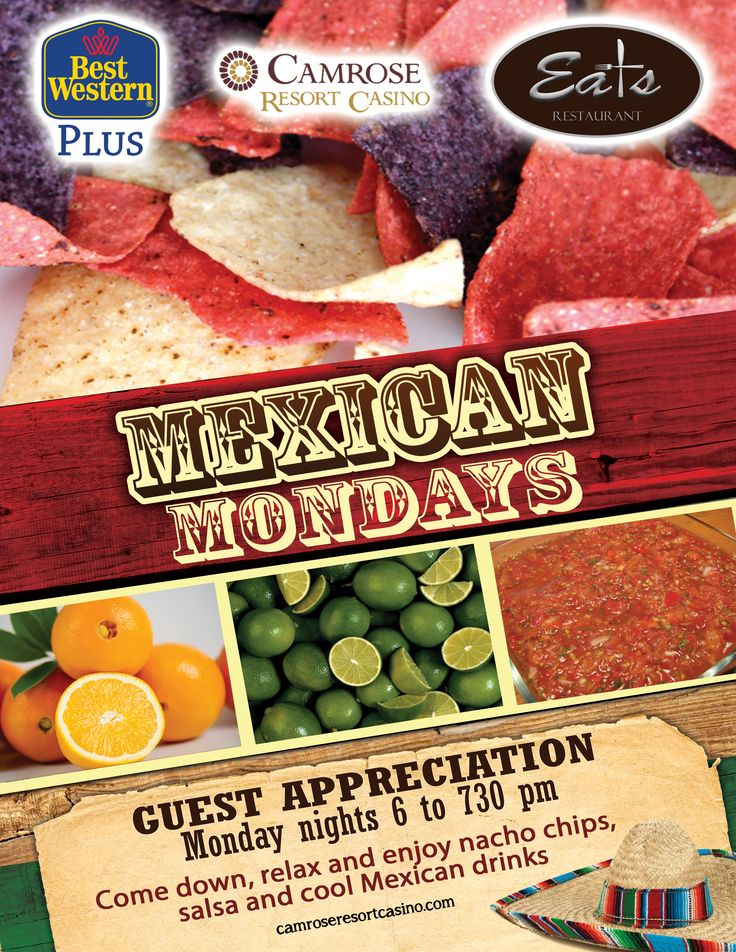 Enjoy nacho chips & salsa, and a tequila-themed drink during Guest Appreciation Mondays - included in your room when staying at the Best Western Plus Camrose on Mondays nights.