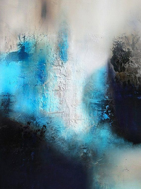 Blue Painting Black Painting White Abstract Etsy Abstract Painting Abstract Canvas Painting Abstract