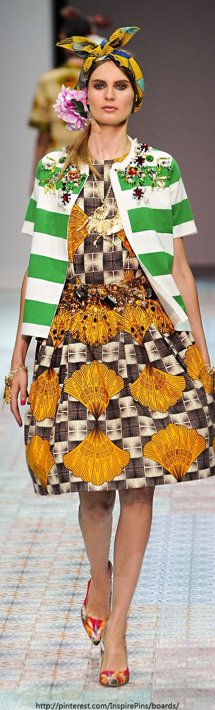 Milan Spring 2014 - Stella Jean  This looks like goodwill gone wrong