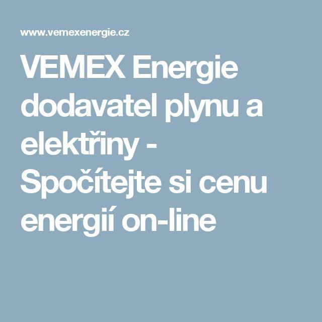 VEMEX Energie dodavatel plynu a elektřiny - Spočítejte si cenu energií on-line
