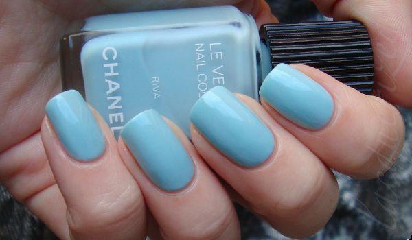 """Chanel nail polish """"Riva"""": Nails Trends, Nails Art, Chanel Nails, Wedding Nails, Nails Colors, Baby Blue Nails, Summer Nails, Nails Polish, Something Blue"""