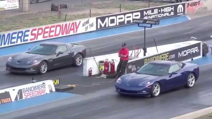 Драг Рейсинг Шевроле Корветт Drag Race Corvette Z06 vs Tuning Corvette
