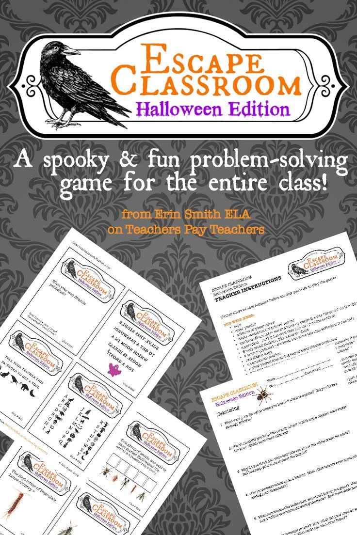 Class Escape Halloween Edition Escape the classroom