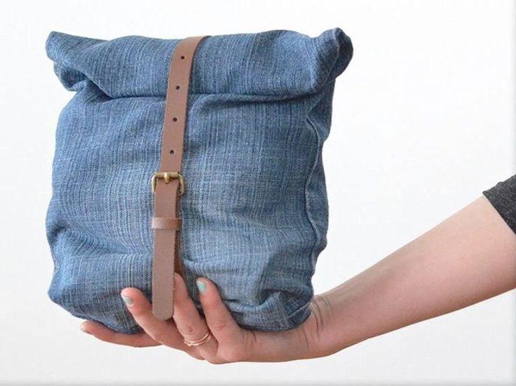 Oltre 25 fantastiche idee su fai da te jeans su pinterest for Borse fai da te jeans