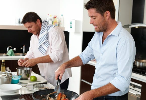 Pete & Manu - MKR. They can cook for me anytime!