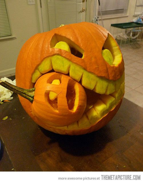 badass pumpkin carving idea - Cool Halloween Pumpkin Designs