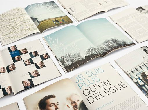 Spread layout. Annual report.