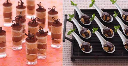 Individual Desserts for Dinner Parties | Bite Size Desserts - Elizabeth Anne Designs: The Wedding Blog