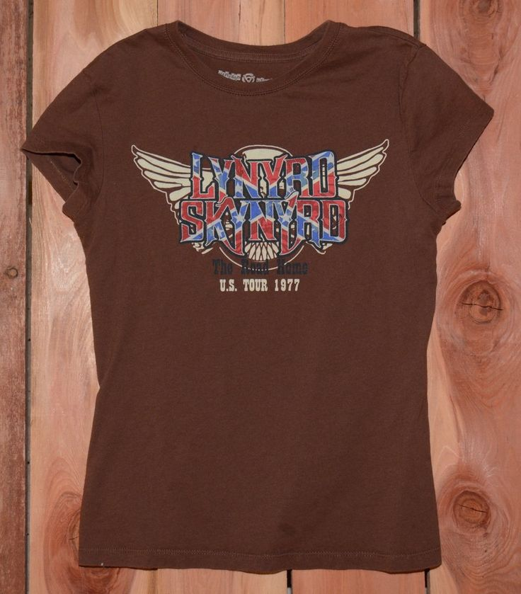 "Lynyrd Skynyrd US Tour 1977 ""The Road Home"" Tour Tee Shirt Woman's Size Medium #LynyrdSkynyrd #GraphicTeeShirt #Music #TheRoadHome #USATour1977"
